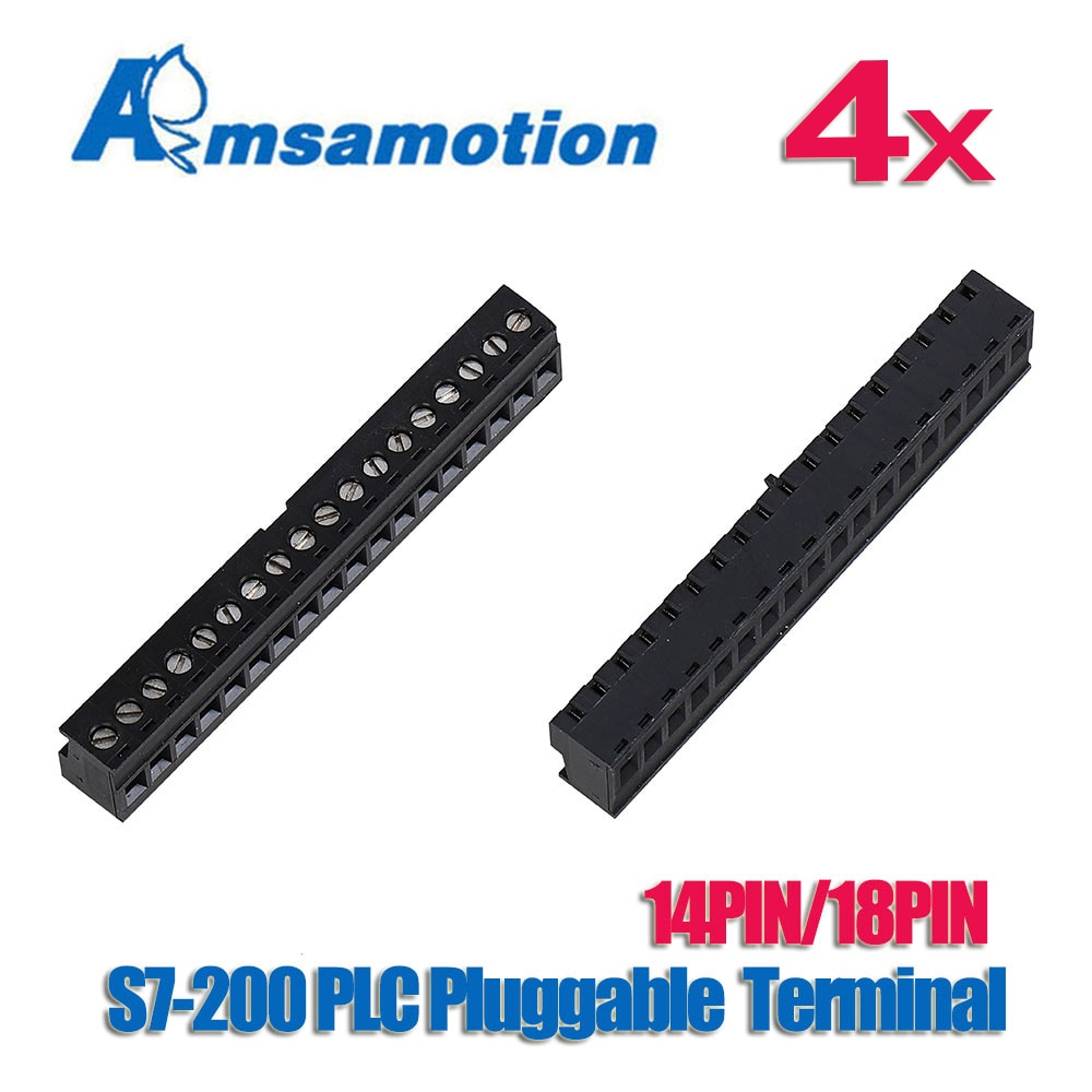4PC/Lot Terminal Suitable Siemens S7-200 PLC 14pin 18pin Puggable Typle  Terminal Connector For CPU224XP CPU226 PLC