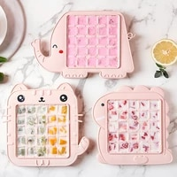 cute animal shapes home kitchen bar homemade ice cube mold 25 grids food grade pp ice tray cute cartoon ice cube maker mould