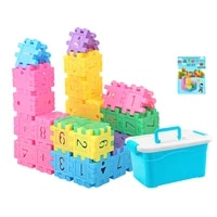 60 260pcs digital cube building blocks assembly diy creative bricks sets macaron color baby early education toys for children
