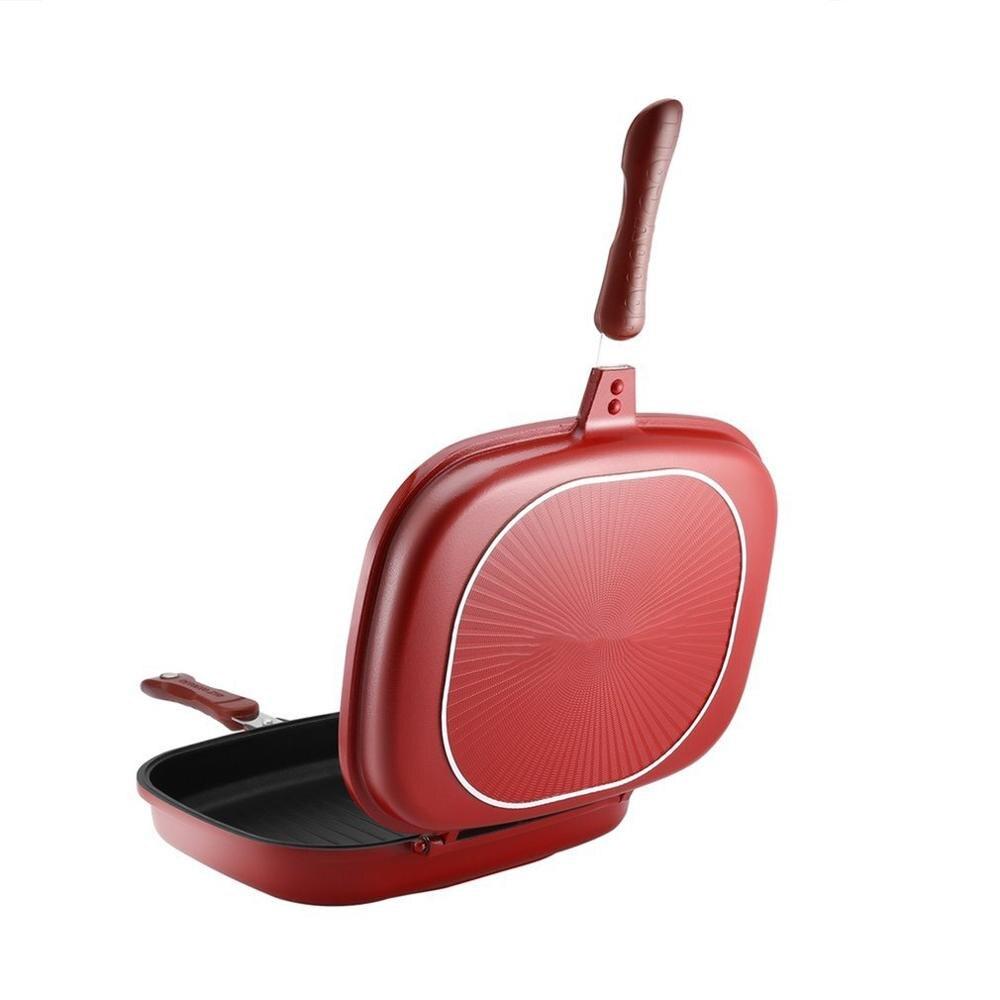 مقلاة على الوجهين غير عصا الشواء أداة الطبخ مستقرة دائمة وموثوق بها تجهيزات المطابخ مناسبة للمنزل في الهواء الطلق