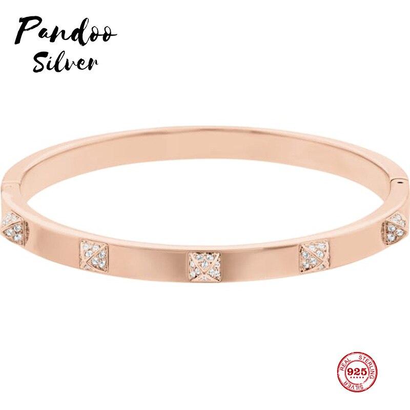 Pulsera de moda 925 pura plata Original 11, elegante temperamento Moda salvaje pulsera femenina joyería de lujo regalos