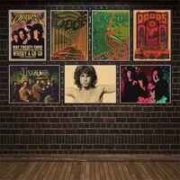 Affiche murale en papier Kraft mat  The door   film de musique  film de musique  film de film  film de film  film de film