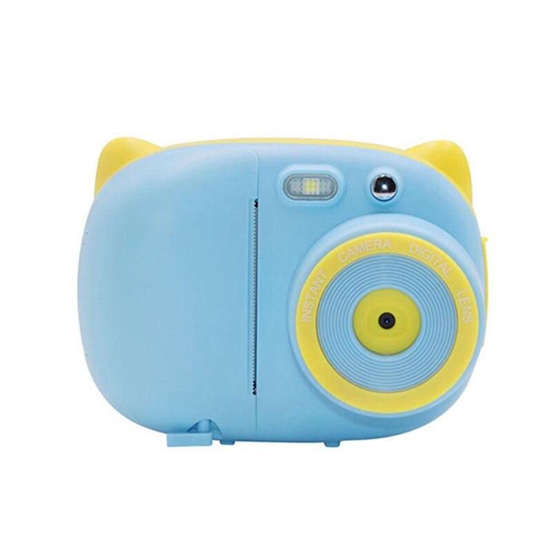 Creative Cute dibujos animados niños cámara de impresión fotográfica instantánea cámara Digital pequeña cámara SLR 3 rollos Cámara papel Bule + tarjeta 32GTF