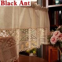 stitching wardrobe half curtain semi permeable short curtain crochet cabinet american country style door home decora dl jd95120