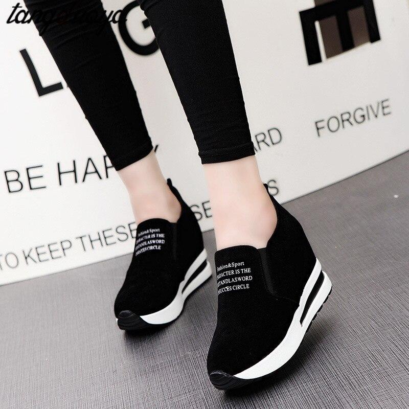 2020 женские кроссовки на платформе; Женские кроссовки на высоком каблуке; Кроссовки на танкетке и платформе; Повседневная обувь для бега; Лид...