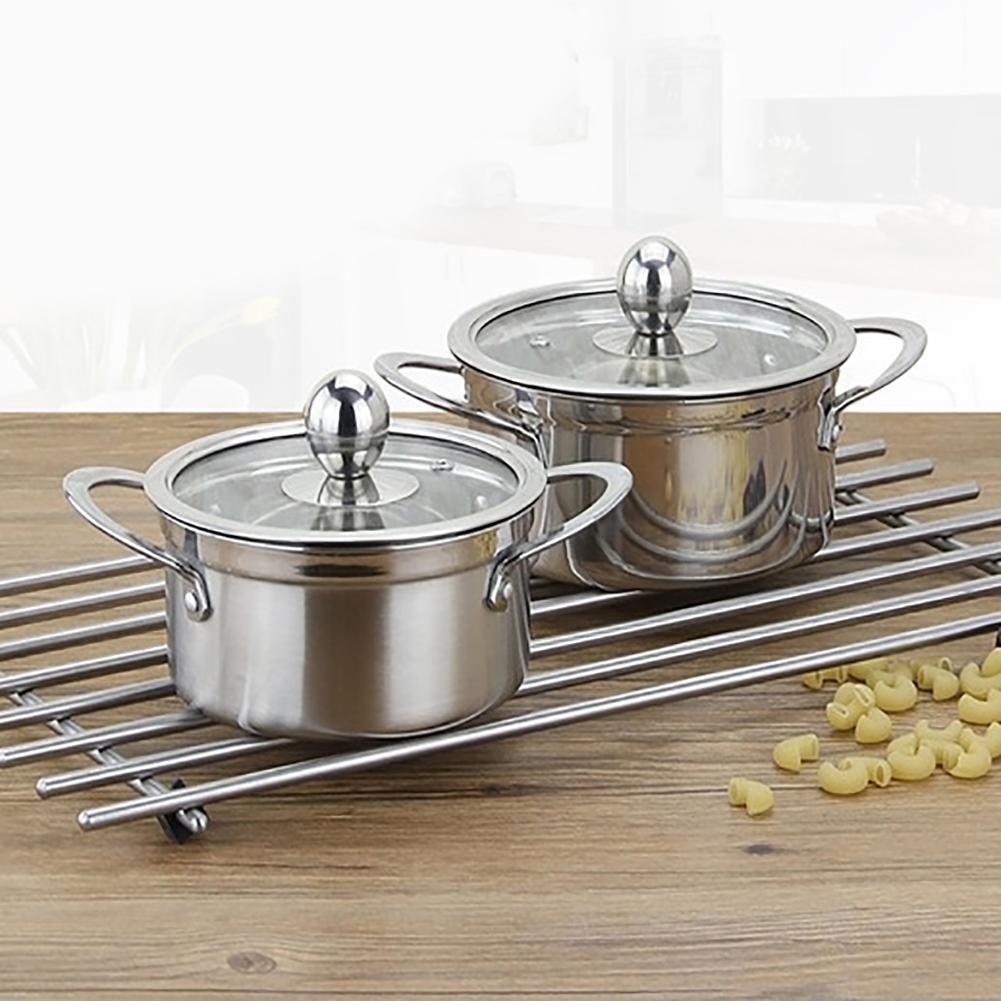 Утолщенный суп-горшок из нержавеющей стали, молочный горшок, кухонный котел для приготовления Iduction, газовые горшки, котел, кухонная посуда, посуда для кухни
