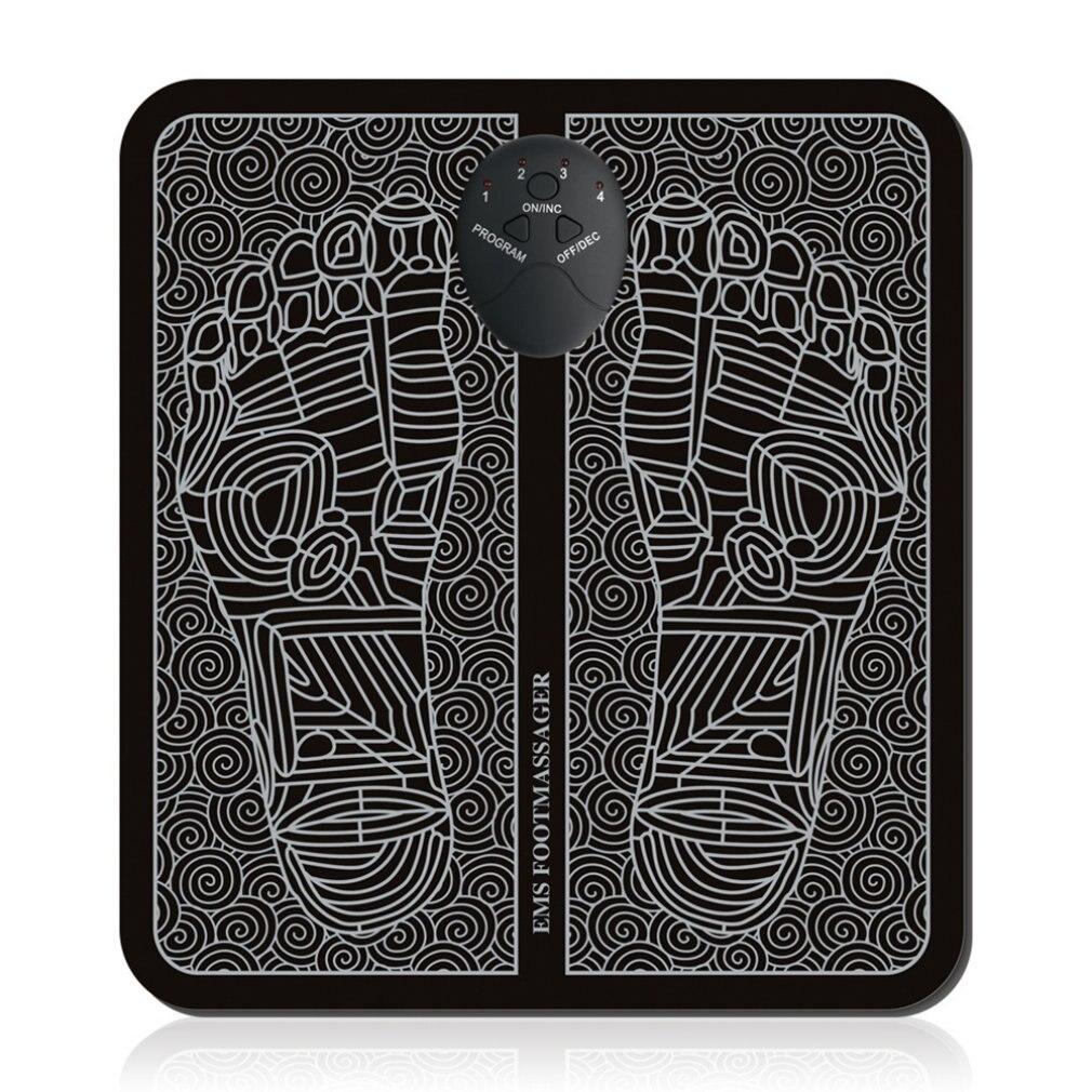 Фитнес EMS десятки акупунктурный Массажер для стоп мышечный Стимулятор акупунктурные тапочки коврик Здравоохранение мышц ног Электрически...
