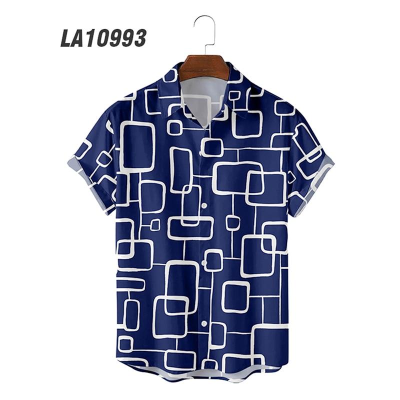 Wholesale Summer 3d Digital Printing Trend Loose Short-Sleeved Shirt Men's Shirt Top 6xl Large Size Shirts for Men trend digital printing short sleeved t shirt