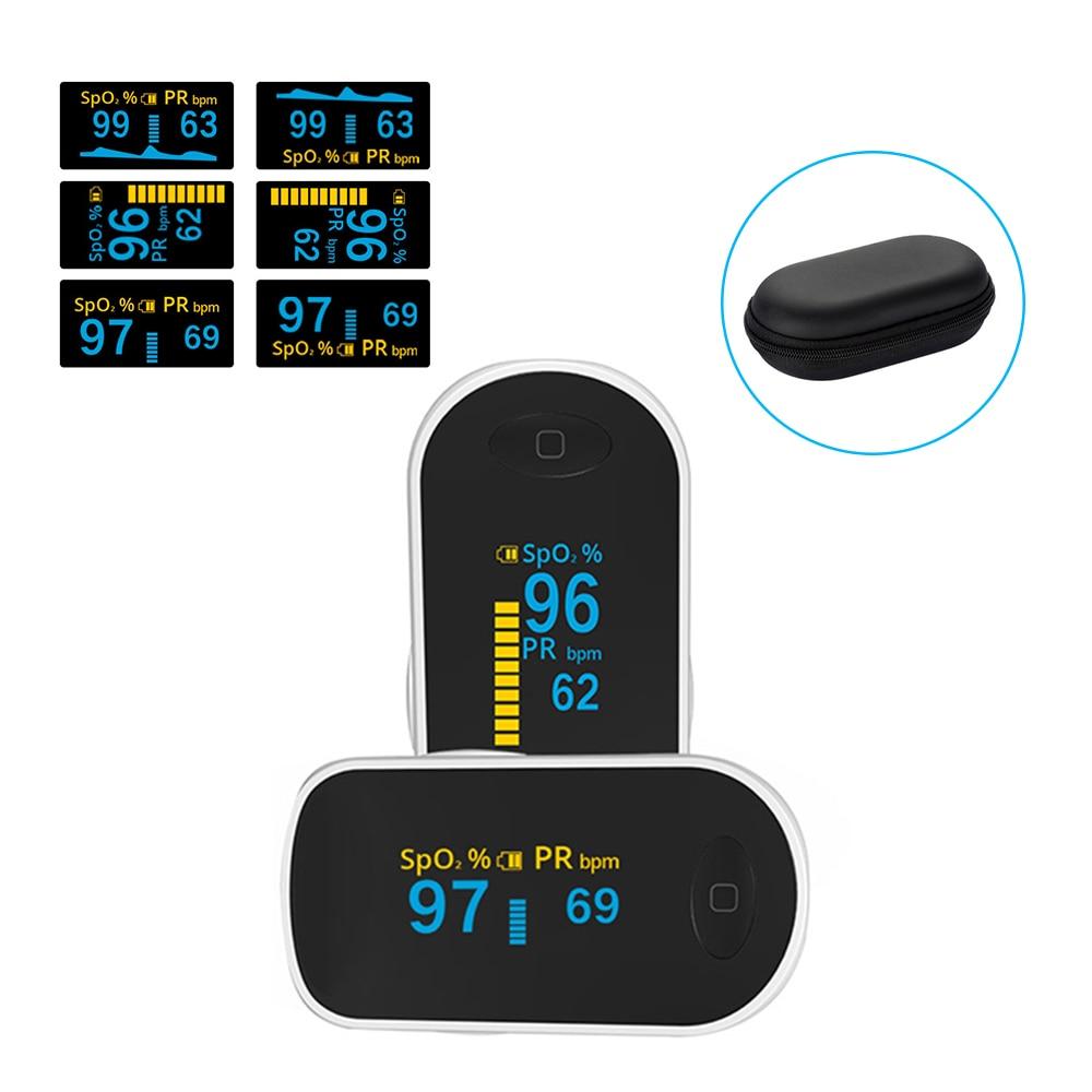 Loodom Finger Pulse Oximeter OLED oximetro de pulso Portable blood oxygen Heart Rate Monitor Household Health Monitors тонометр