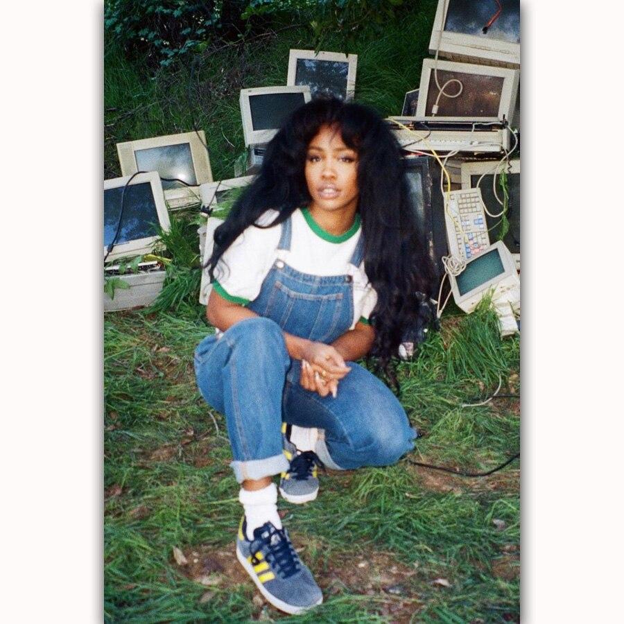 MT1007 SZA Hip Hop Rap Pop Music R&B Singer Star Painting Art Poster Print Canvas Home Decor Picture Wall Print