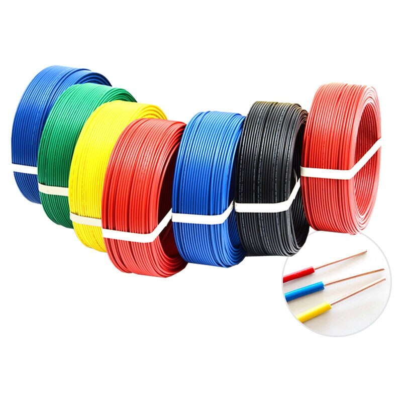 1 metro BV0.07/0,12/0,2/0.5mm ² PVC Cable aislante Cable electrónico BV Cable duro blanco/negro/rojo/amarillo/azul/verde Color