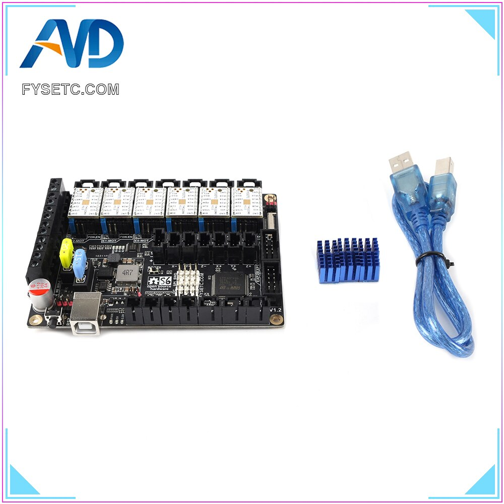 S6 V1.2 Placa de Control de 32 bits con 6 uds. TMC2208 v1.2 controlador de Motor paso a paso UART Flying Wire MX Connector VS F6 SKR V1.3
