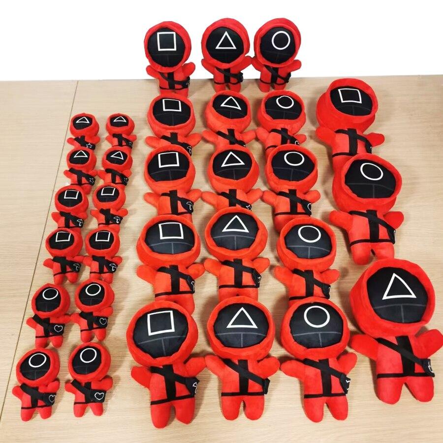 Игра «кальмар», плюшевые куклы, игрушки, кавайная плюшевая кукла, Корейская забавная мультяшная игра «кальмар», игрушки-плюшевые игрушки, п...