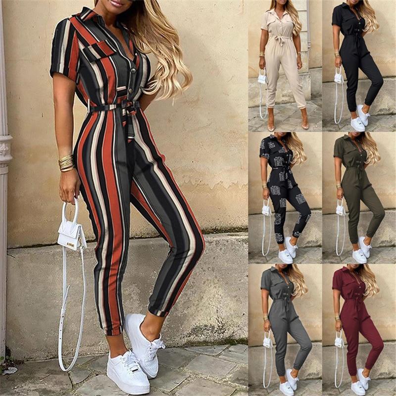 Pantalones informales para mujer, camisetas de verano, hebillas, cintura de inyección, trabajo,...
