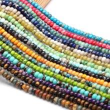 Naturel rose Quartzs Jaspers Rondelle perles rondes perles entretoises en vrac pour la fabrication de bijoux artisanat bricolage Bracelet perlé 4/6/8mm
