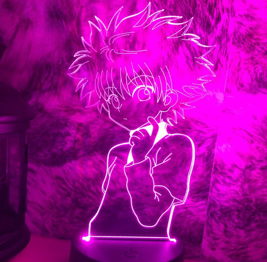Acrylic 3d Night Lamp Anime Night Light Desk Lamp Killua Figure Hunter X Hunter for Bedroom Decor Night Light Gift Dropship 2019 new arrival dropship hot dragon egg night light as gift for night lamp in room light