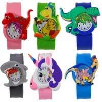 childrens watch 30 kinds of cartoon dinosaur shark unicorn santa claus pat watch strap kids watch for boys girls baby toy clock