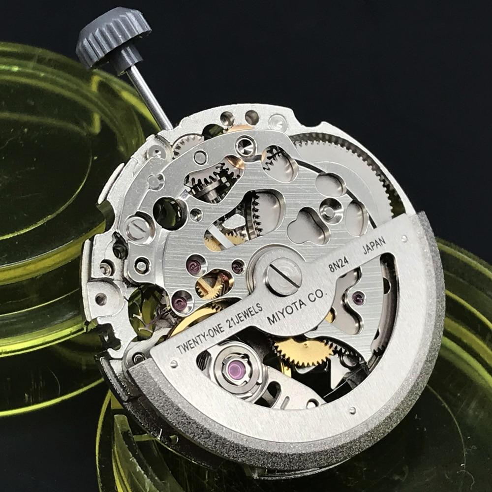 Miyota 8N24 Original Japan Skeleton Mechanical Movement 21 Jewels  Automatic Self-winding Watch Move