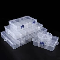 sale adjustable 3 36 grids compartment plastic storage box jewelry earring bead screw holder case display organizer container