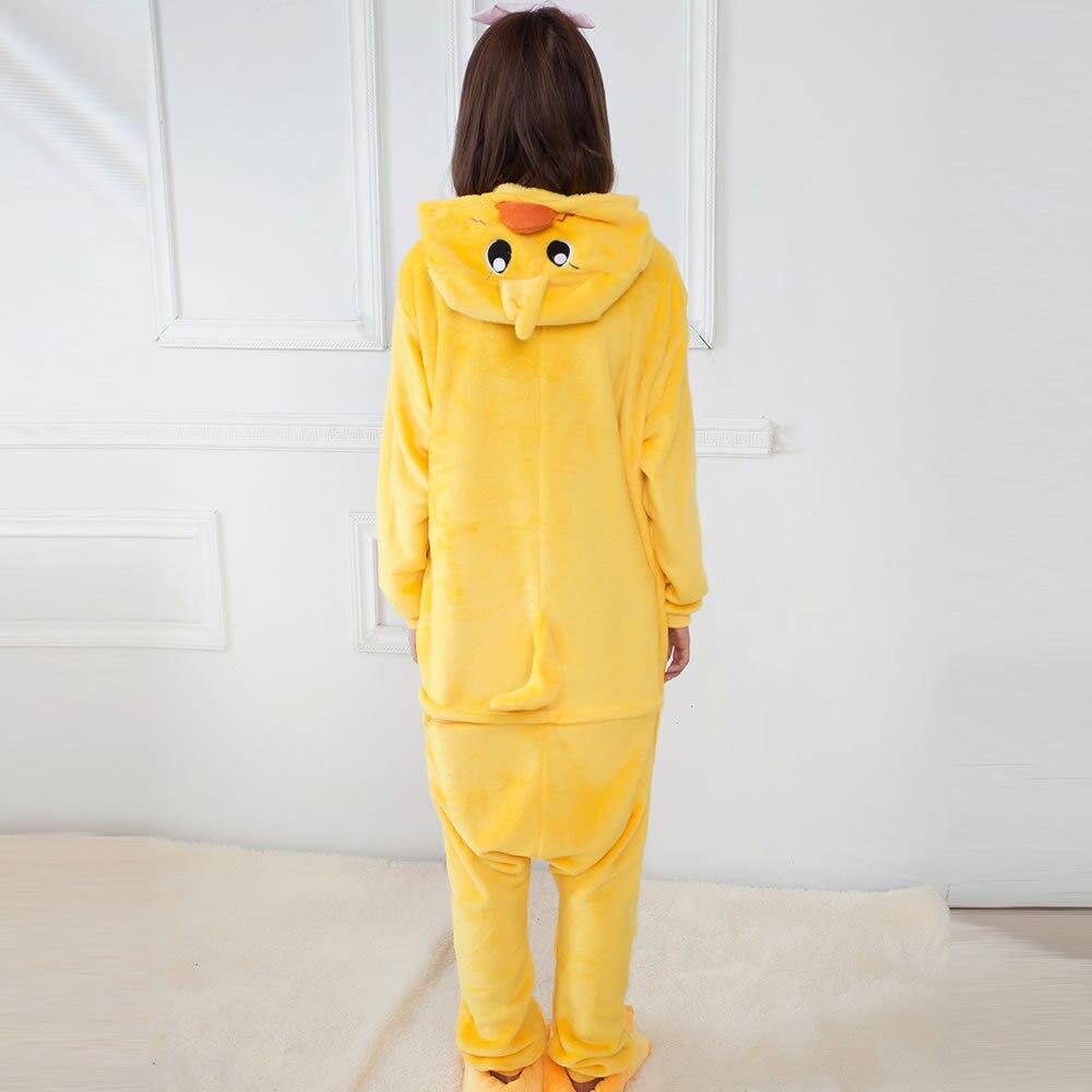 2019 invierno mujer killumi Onesie Duck pijamas conjuntos lindo franela Animal pijama camisón cálido con capucha ropa de dormir disfraz