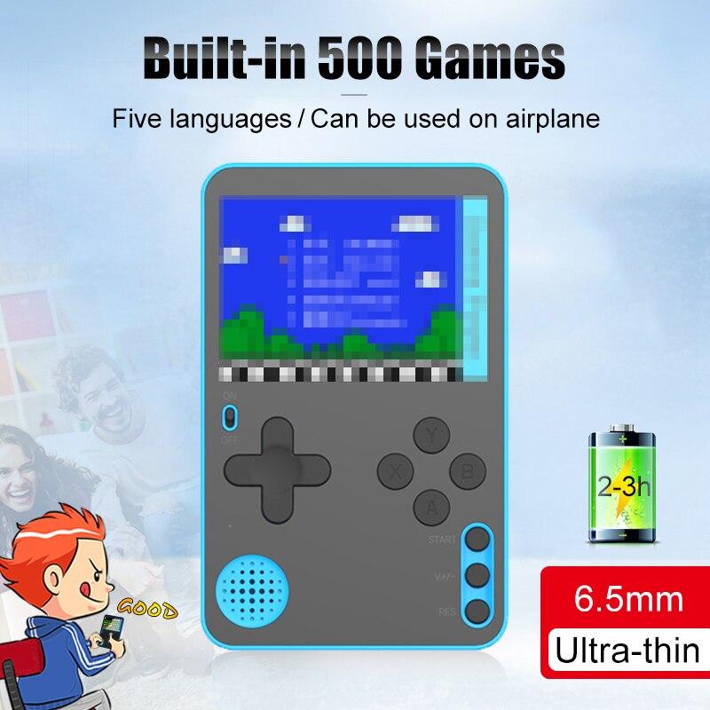 500 классические игры мини видео игровая консоль портативные игровые плееры Ретро игры для детей 2,4 дюймов ручная ультратонкая консоль