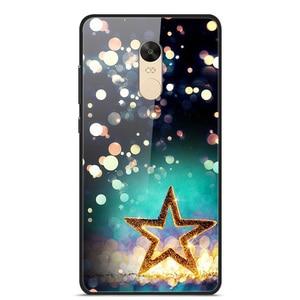 Glass Case For Xiaomi Redmi Note 4X Phone Case Phone Cover Phone Shell Back Bumper Series 1