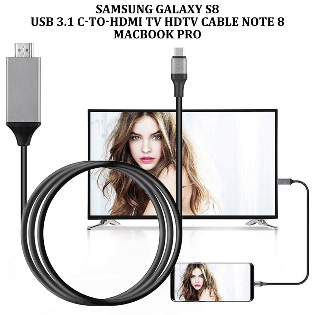 Cable 4K HDMI HDTV, USB-C tipo-c para Samsung Galaxy Note 8 9 S10 + Plus