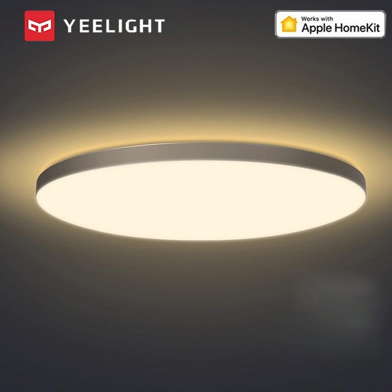 Lámpara de techo LED moderna inteligente Yeelight con retroiluminación RGB soporte de iluminación interior Homekit Mijia APP para sala de estar