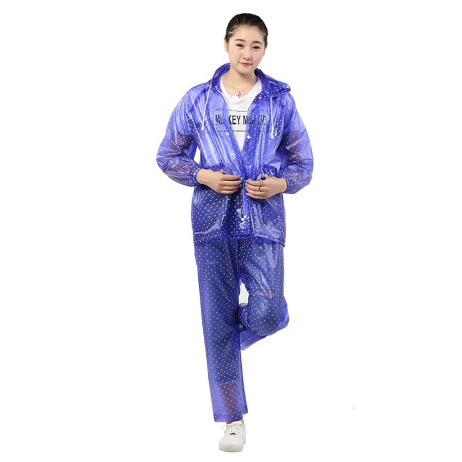 Chubasquero transparente largo de PVC para Mujer, chaqueta de lluvia, Impermeable, para...
