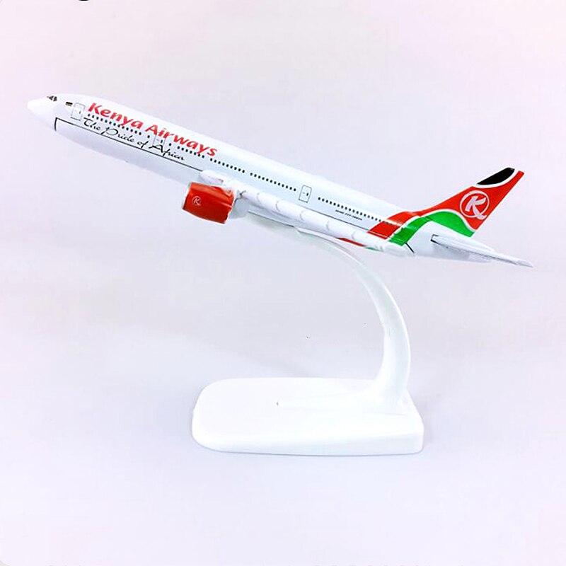 16cm 1400 escala Kenya Airways Boeing B777 modelo de avión de aleación modelo de aviación aviones modelo Stand Craft coleccionable