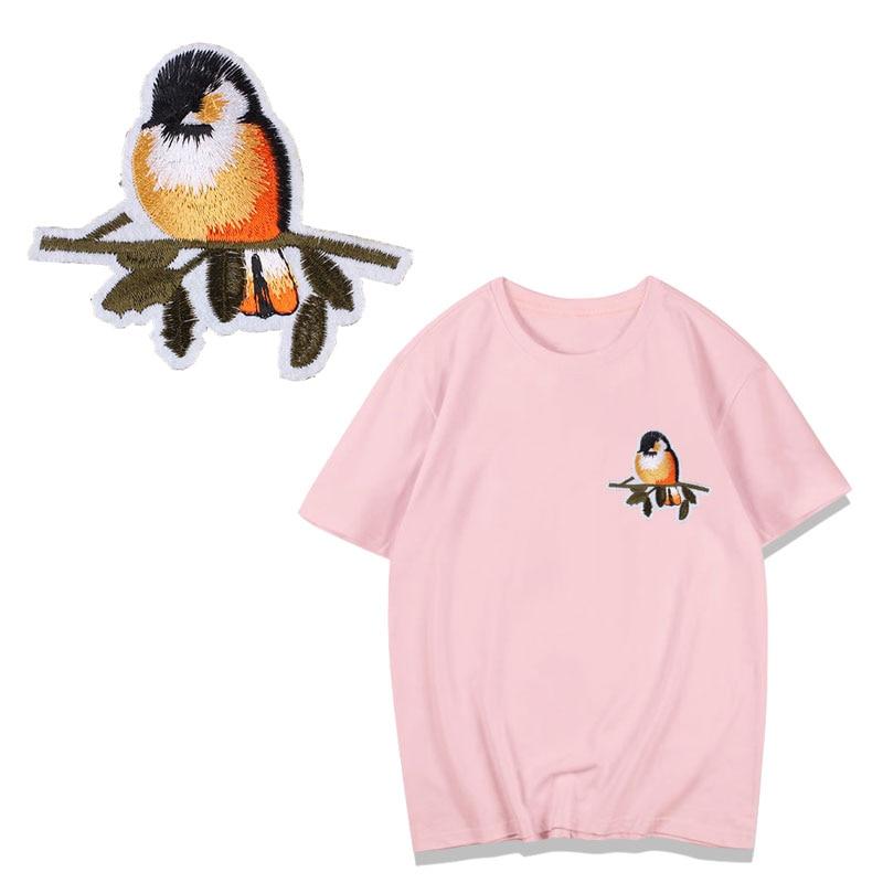 Parches de árboles del alfabeto del pájaro para la raya parche para ropa A nivel lavable hierro en apliques DIY etiqueta de la ropa