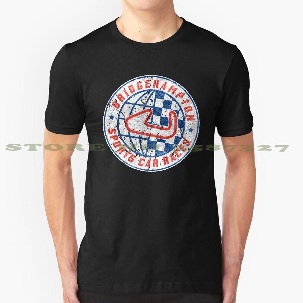 Camiseta divertida de verano Bridgehampton para carreras de coches deportivos para hombre y mujer, deportes Retro de Isla Larga, coches de carreras Bridgehampton