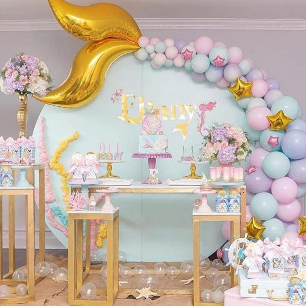 Mermaid Tail Ballon Kleine Zeemeermin Verjaardag Party Decor Onder De Zee Meisje 1st Mermaid Verjaardag Meisje Baby Shower