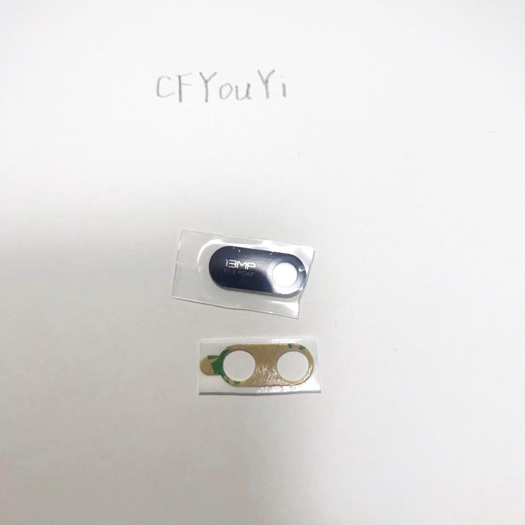 Lentille de verre de caméra arrière avec autocollants adhésifs pour Huawei Y6 2019, 1 à 10 pièces