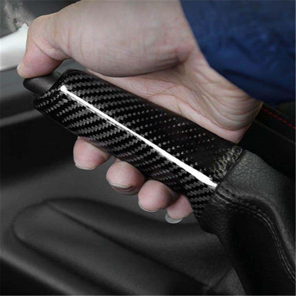 Véritable couverture de poignée de frein à main en Fiber de carbone pour BMW E46 E90 E92 F30 F32 F80 accessoires de voiture en gros livraison rapide nouveau chaud