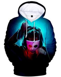 Sally Face Game Halloween Party Xmas Funny 3D Cosplay Hoodie Coat