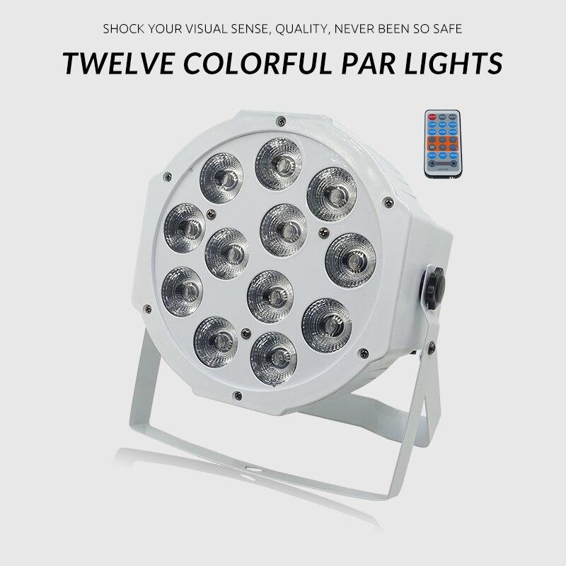 مصباح عرض Led مسطح 12 × 12 وات ، 12 × 12 وات ، RGBW ، خلط ألوان ناعم ، DMX 4/8 ، إضاءة المسرح