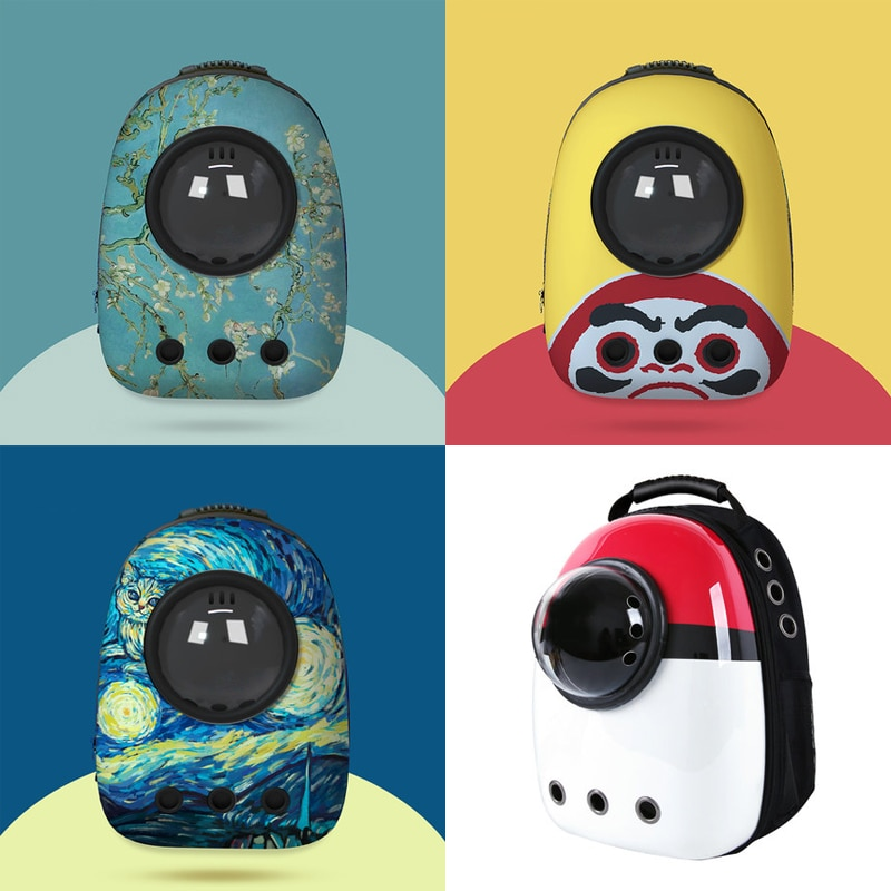 Cat Backpack Cat Carrier Fat Cat Bag Breathable Transport Travel Bag Dog Space Capsule Pet Capsule Astronaut Backpack For Pets