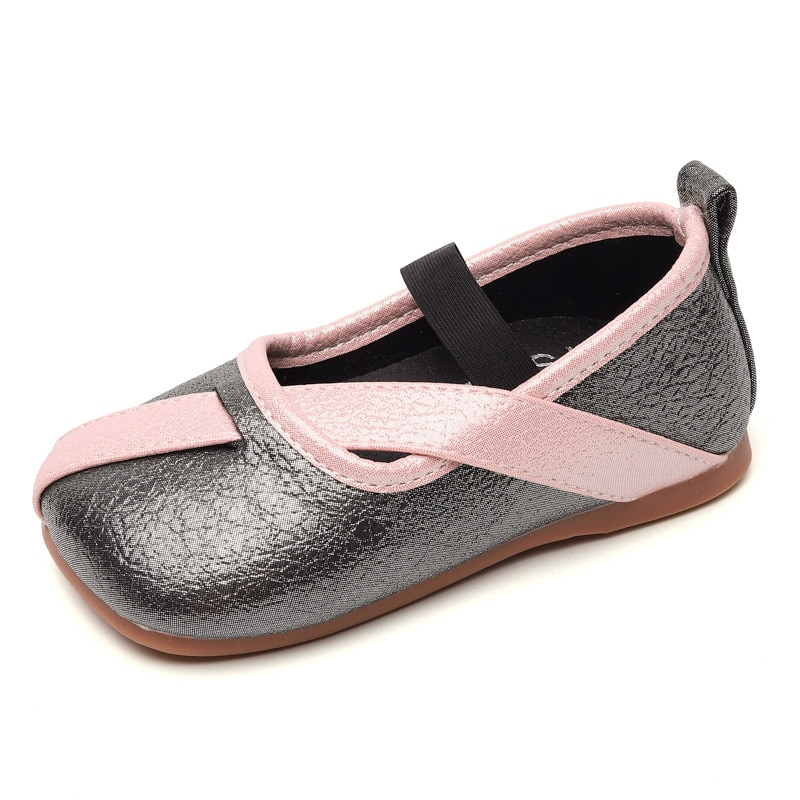 Baby Girl Leather Shoes Kids Casual Flats For Wedding Party Exclusive Design Fashion Princess Chic Children Shoes Sweet 21-30
