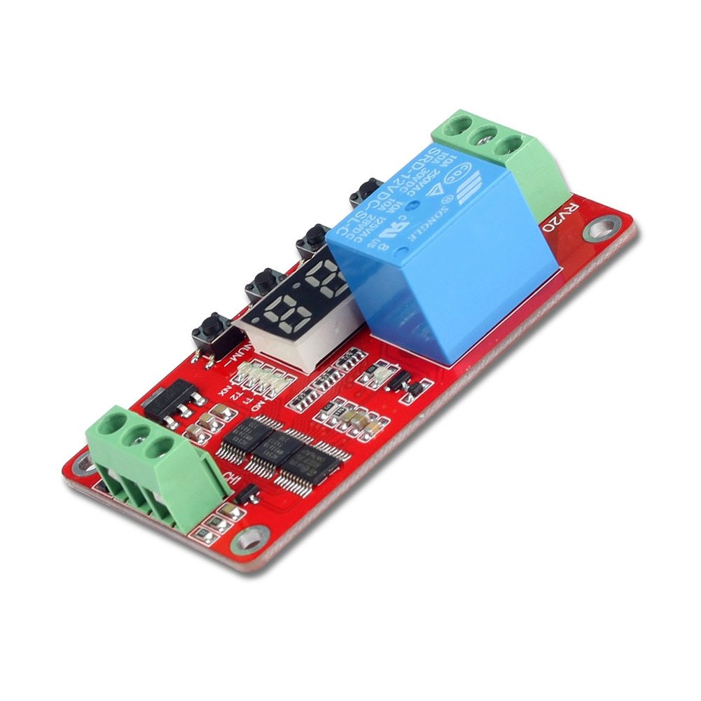 Timer Relay Time Delay Relay Controller Board Delay Switching Relay Module with LCD Display Timing Control Module DIY