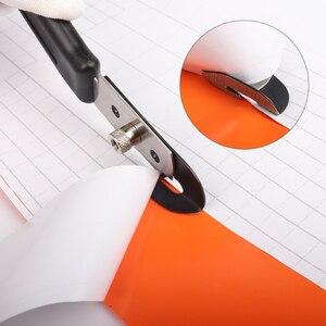 Image 5 - Фторопластовый виниловый резак FOSHIO из углеродного волокна, универсальный нож для резки и 10 шт. лезвий, инструмент для резки тонировочной бумаги