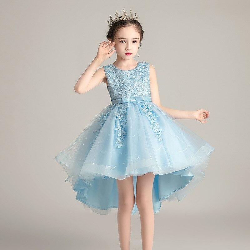 الأطفال فستان الأميرة فستان الصيف زائدة شبكة عرض فستان أزياء للبنات 3-12 سنة الأطفال