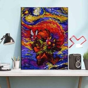 Картина Настенная картина «Звездная ночь» с изображением маски маджора и меча aliexpress алиэкспресс goods лучшие популярные товары заказать почтой купить китая бесплатной доставкой дешевые shopping 2020
