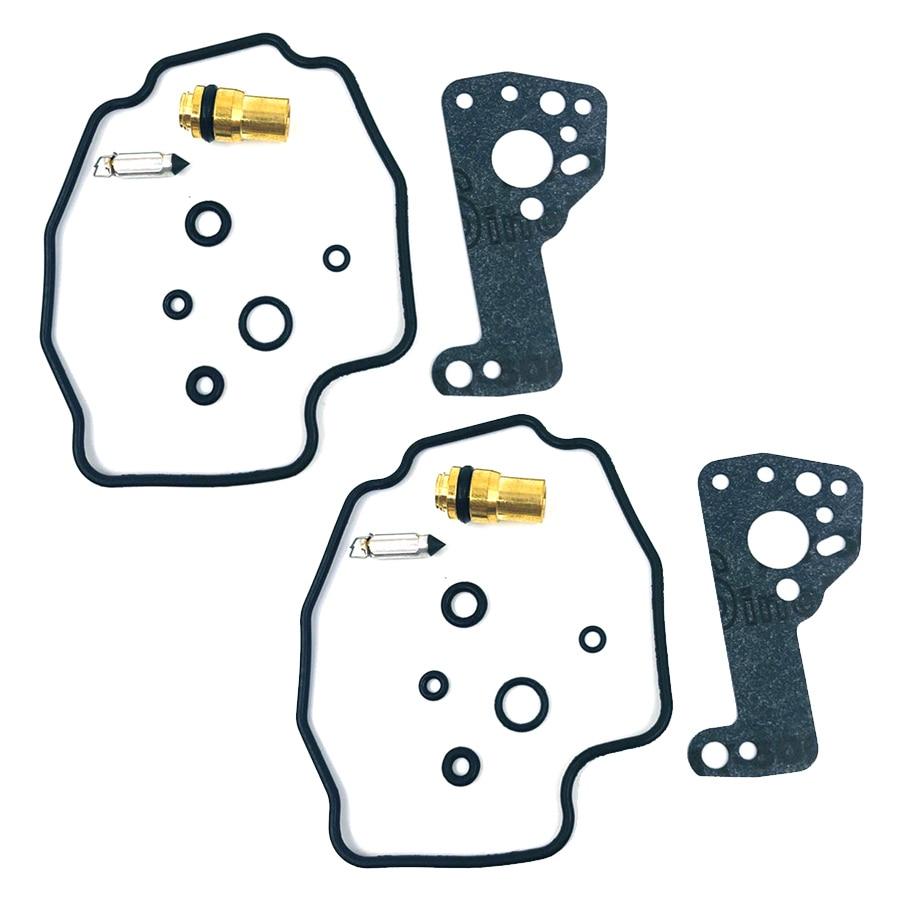 2 jogos/lote kit de reparo do carburador com válvula de agulha de flutuador para yamaha xv535 xv 535 virago 1989-2001