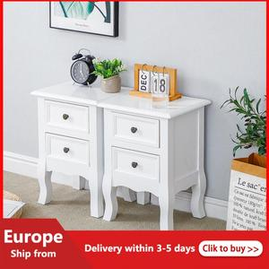 2pcs/set New Solid Wood Legs Nordic Style Bedside Cabinet Simple Locker Simple Bedroom Bedside Cabinet Nightstand Bedroom HWC