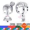 WOSTU aile tarzı 925 gümüş Charm için orijinal gümüş 925 bilezik hakiki Metal boncuk sevgililer günü DIY takı yapmak