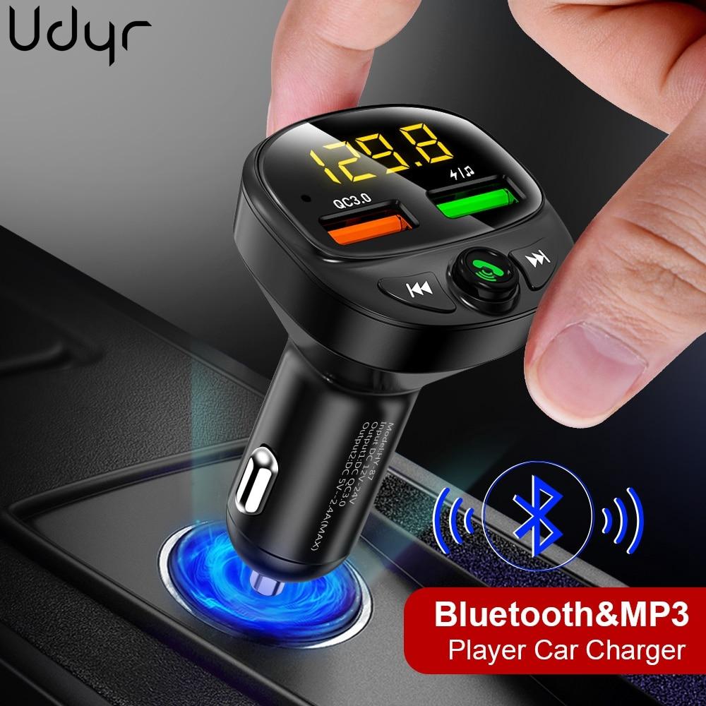 Udyr-modulador transmisor FM Bluetooth, Kit de manos libres para coche, reproductor de...