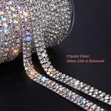 Applicateur de ruban Strass couture garniture cristal   Ruban adhésif, Motif Strass scintillant, Appliques décor bricolage de 1 cour