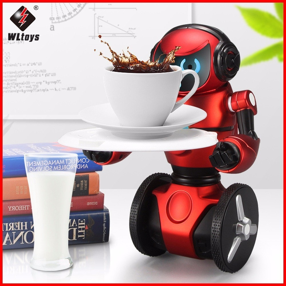 Robot de juguete original WLtoys F1 2,4G RC, giroscopio inteligente de 3 ejes con sensor de gravedad y equilibrio, Robot inteligente de juguete para niños