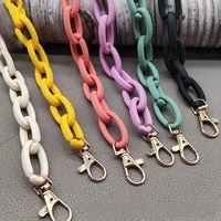 fashion acrylic bag chain detachable shoulder handbag chains replacement handbag strap solid color purse chain bag accessories